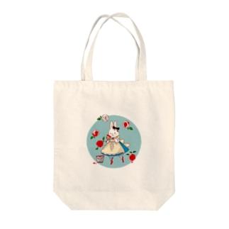 薔薇とうさぎアリス Tote Bag
