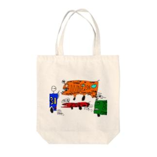 サメレース Tote bags
