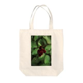 dark rose Tote bags