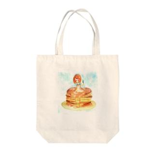 ホットケーキちゃん Tote bags