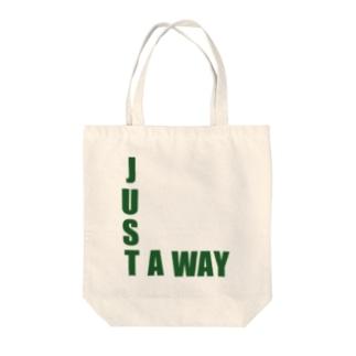 ゆたぽんのJUST A WAY Tote bags