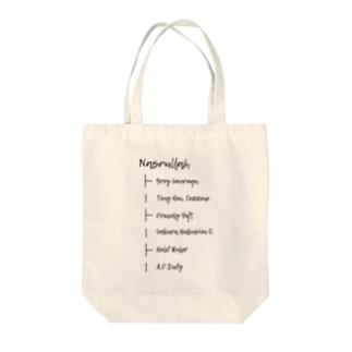 NASRULLAH Tote bags