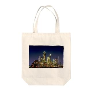 工場夜景(四日市) Tote bags