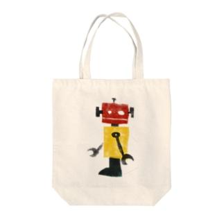レトロロボット Tote bags