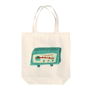 レトロラジオ Tote bags