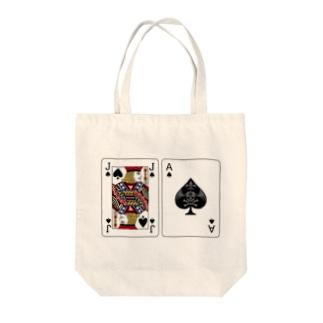 ブラックジャック Tote bags