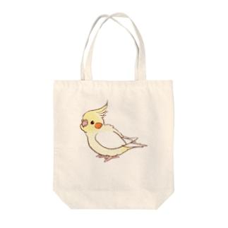 オカメインコ(ルチノー) Tote bags