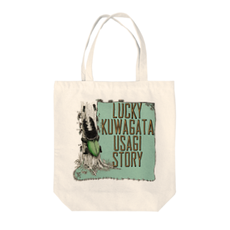 FINCH LIQUEUR RECORDSのクワガタウサギTOP Tote bags