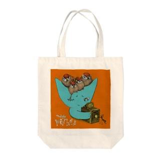 ピンホール Tote bags