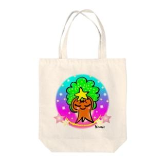 モックン虹色 マルサイズ Tote bags