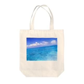 果てしない海の色 Tote bags