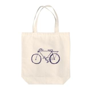 白い自転車 Tote bags