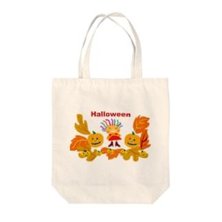 ハロウィーンのクレコちゃん Tote bags