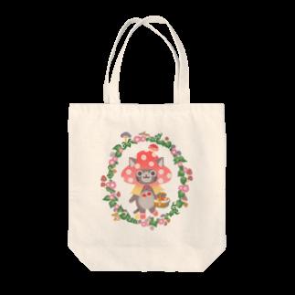 もももーこのきのこずきんちゃん Tote bags