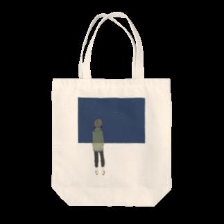 一瀬のブルーモーメント Tote bags