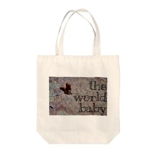 世界赤ちゃん Tote bags
