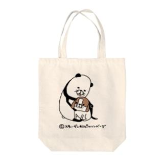 パンダと犬 Tote bags