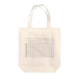 けん玉検定表(1〜10級) Tote bags