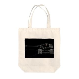 王虎(フレーム) Tote bags