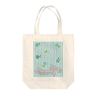Blue Roses Tote bags
