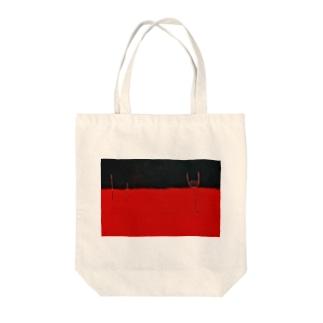 赤と黒のブルース Tote bags
