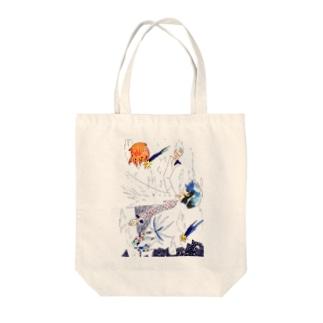 海中 Tote bags