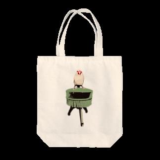 FINCH LIQUEUR RECORDSの文鳥椅子 Tote bags