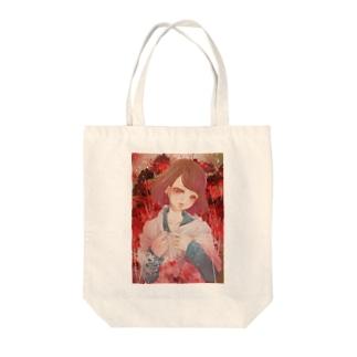 朱色 Tote bags