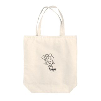 sleepy girl. Tote bags