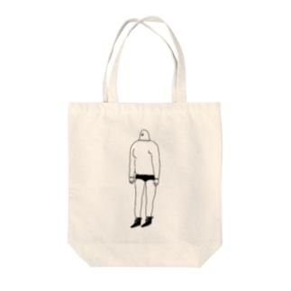 伝説の山男パジャマティー君 Tote bags