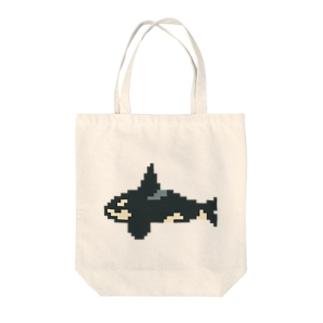 シャチ ピクセル Tote bags