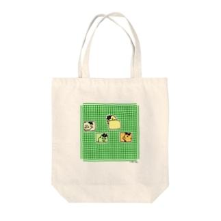 ぱすけくんチェック Tote bags