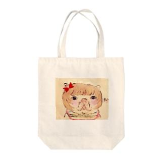 フレンチブルドッグカトリーヌちゃん🎀リボン Tote bags