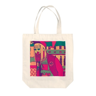 Girl was tired of waiting Tote bags
