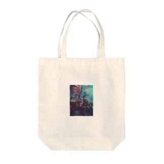 雨の街 Tote bags