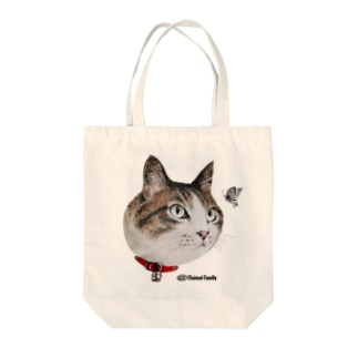 ねこ-2(タマとチョウチョ)手描きイラスト Tote bags