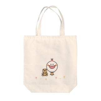 クマちゃんとお散歩 Tote bags