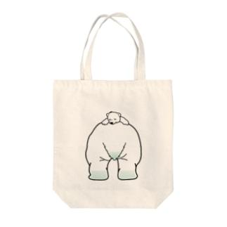しろくま ママのうえ Tote bags