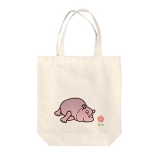 おやすみ かばさん Tote bags
