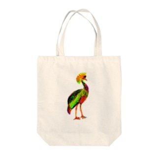 ホオジロカンムリヅル Tote bags