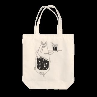 I.gasu🄬アイガスワールドのI.gasu peachbear black 【アイガス】 Tote bags