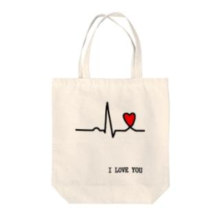 心電図 Tote bags