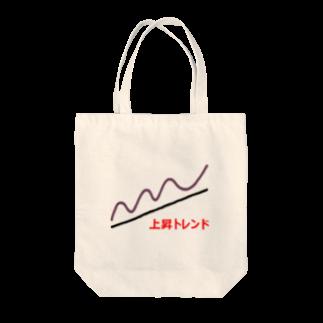 musclerのローソク足(上昇) Tote bags