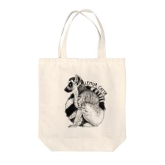 Lemur catta Tote bags