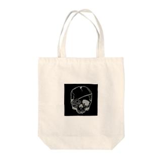 Broken Skull black ver Tote bags