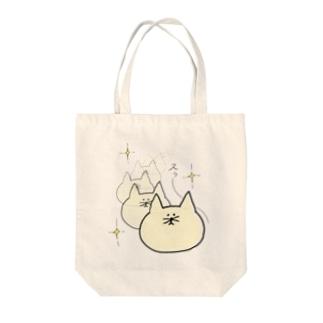 まちょねこ(スゥ〜) Tote bags