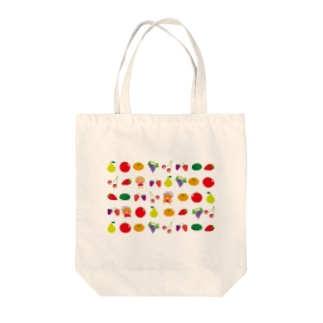フルーツに隠れたクレコちゃんを探せ! Tote bags