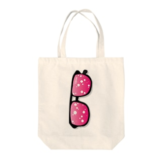 I.gasu peach ダテメガネ【アイガス】 Tote bags