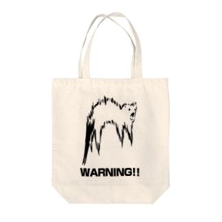 未確認飛行フェレット(白地用) Tote bags