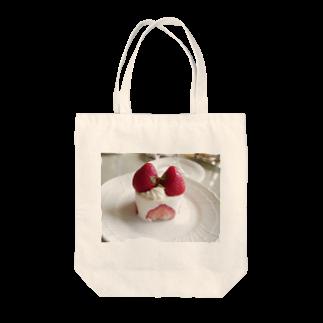 ハローワールドのいちごのショートケーキ Tote bags